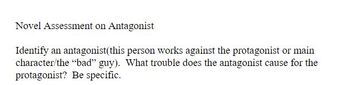 Assessment on Antagonist