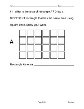 Assessment on Arrays & Area w/ Rubric