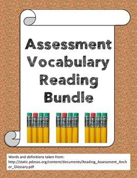 Assessment reading vocabulary bundle
