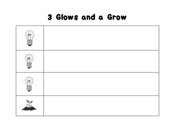 3 Glows and 1 Grow Assessment