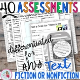 Assessments and Activities Worksheets with Scoring Guides | Language Arts