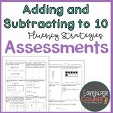 Assessments- Add and Subtract to 10 Fluency Strategies- Topic 2