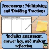 Assessments - Dividing Fractions - Quiz - Formative - Stud