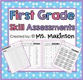Assessments - First Grade