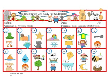 Reading Assessments (K-2) using Miss Bindergarten/There's a Zoo in Room 22