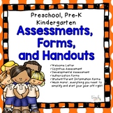 Assessments, Forms, and Handouts for Preschool, Pre K, and Kindergarten!
