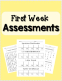 Assessments - Number, Letter/Sound Identification, CVC, an
