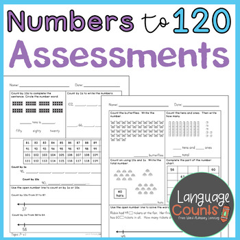 Assessments- Numbers to 120- Topic 7