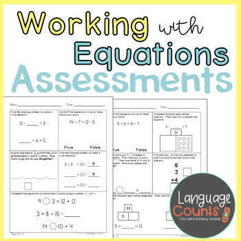 Assessments- Working with Equations- Topic 5