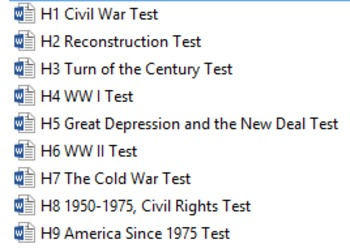 Social Studies Assessments (U.S. History, Elementary)