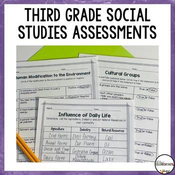 Assessments for Ohio Social Studies Third Grade