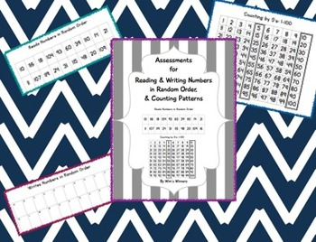 Assessments for Reading & Writing Numbers in Random Order, & Counting Patterns