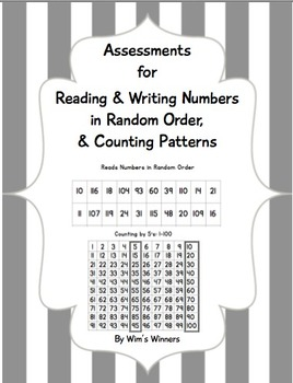 Assessments for Reading & Writing Numbers in Random Order,