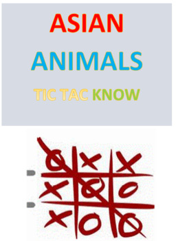 Assian Animals Tic Tac Know