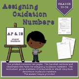 Assigning Oxidation Numbers Handout and Worksheet