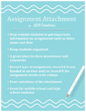 Assignment Attachment - Help Organize Student Assignments