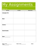 Assignment Book or Planner for Organization