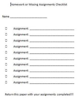 Assignment Checklist