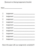 Assignment Checklist
