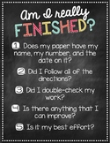 """""""Am I Really Finished?"""" Assignment Completion Checklist {C"""
