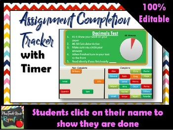 Assignment Completion Tracker with Timer