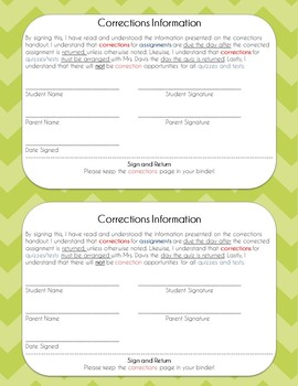 Assignment Correction Letter