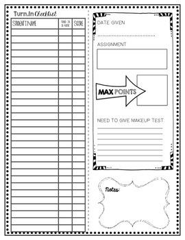 Assignment Cover Slip Checklist
