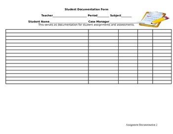 Assignment Documentation Sheet