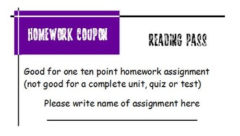 Assignment Exemption Coupons