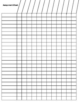 Assignment Grading Sheet Teacher Timesaver