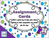 Assignment Heading Cards- *Back to School