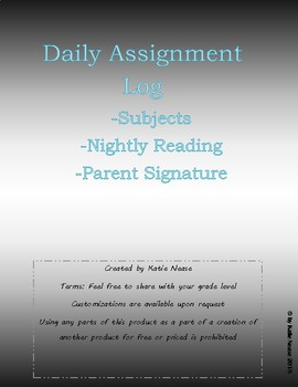 Assignment Log