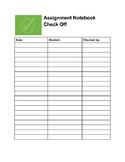 Assignment Notebook Log