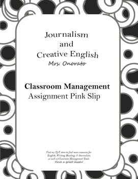 Assignment Pink Slip