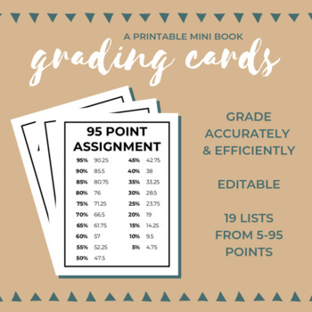 FREE Grading Cards: A Printable Mini Book