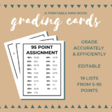 FREE Grading Cards: A Printable Mini Book