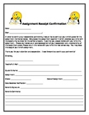 Assignment Receipt Parent Confirmation