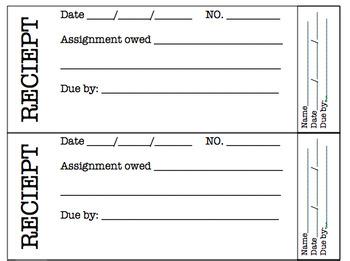 Assignment Reciept