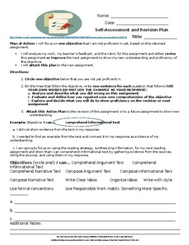 Middle School ELA Self-Assessment and Revision Plan