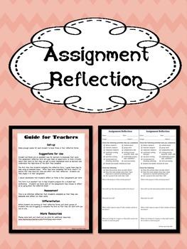 Assignment Reflection Organizer