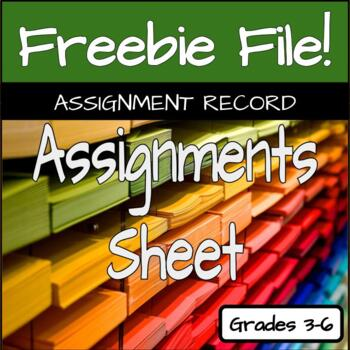 Assignment Sheet