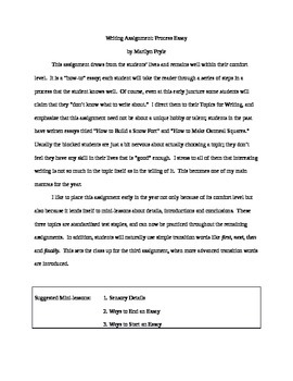 Process (How-To) Essay Bundle in Word--Great for Writing Workshop or Alone!