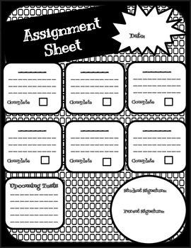 Assignment Sheet: No Clip Art
