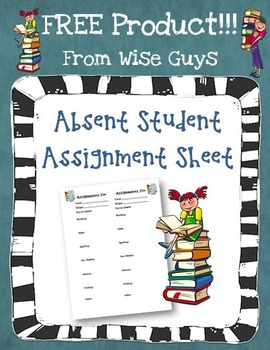FREE Assignment Sheet for students who are absent