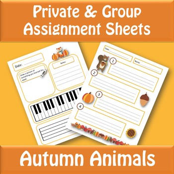 Assignment Sheets - Private, Group, and Rotating Lessons
