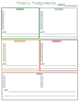 Assignment Simple Planning Page