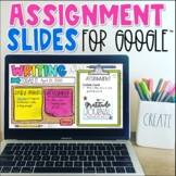 Assignment Slide Templates for Google