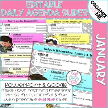 Assignment Slides (Editable and Winter Themed)