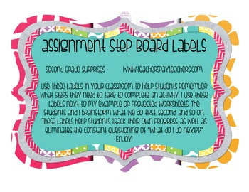 Assignment Steps Board Labels