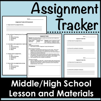 Assignment Tracker Lesson for Middle/High School